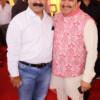Umakant Agnihotri and Adv Shyam Dewani during Mahaprasad organised by Adv Shyam Dewani at his office in Nagpur