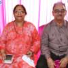 Usha and Prakash Dayalani during Mahaprasad organised by N Kumar at Poonam Chambers, Nagpur