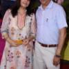 Vinod and Ritu Duseja during Mahaprasad organised by N Kumar at Poonam Chambers, Nagpur
