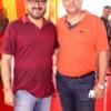 Vishal Bhatia and Sharad Agrawal during Mahaprasad organised by Adv Shyam Dewani at his office in Nagpur