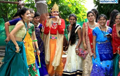 LAD College students groove to the beats of dandiya during Navratri