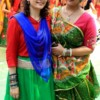 Simran Marwah and Bhavna Rawlani during garba event organised by LAD College, Seminary Hills, Nagpur