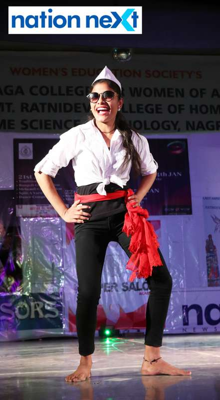 Kalyani Walde during her performance at LAD College's cultural fest 'Aura' held in Nagpur