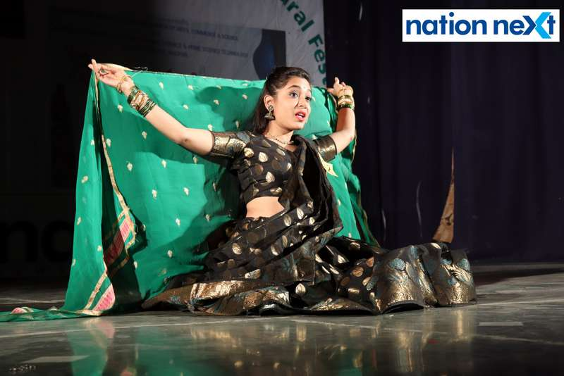 Pooja Gote during her performance at LAD College's cultural fest 'Aura' held in Nagpur