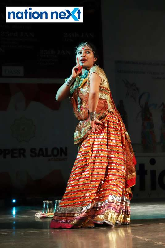 Radhika Jagtap during her performance at LAD College's cultural fest 'Aura' held in Nagpur