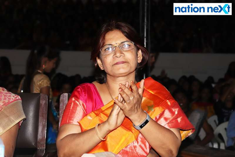 Radhika Yelkawar (Vice Principal, LAD College) at LAD College's cultural fest 'Aura' held in Nagpur