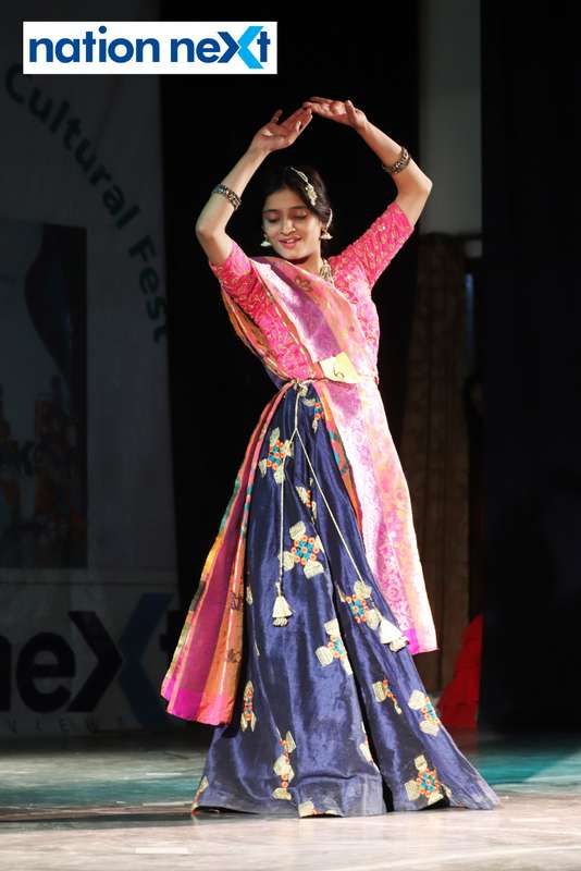 Rasadha Bhute during her performance at LAD College's cultural fest 'Aura' held in Nagpur