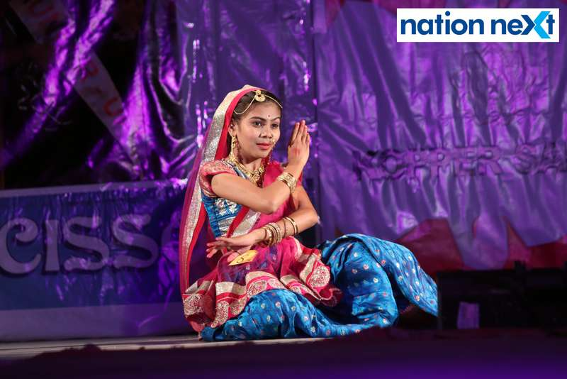 Sheetal Pote during her performance at LAD College's cultural fest 'Aura' held in Nagpur