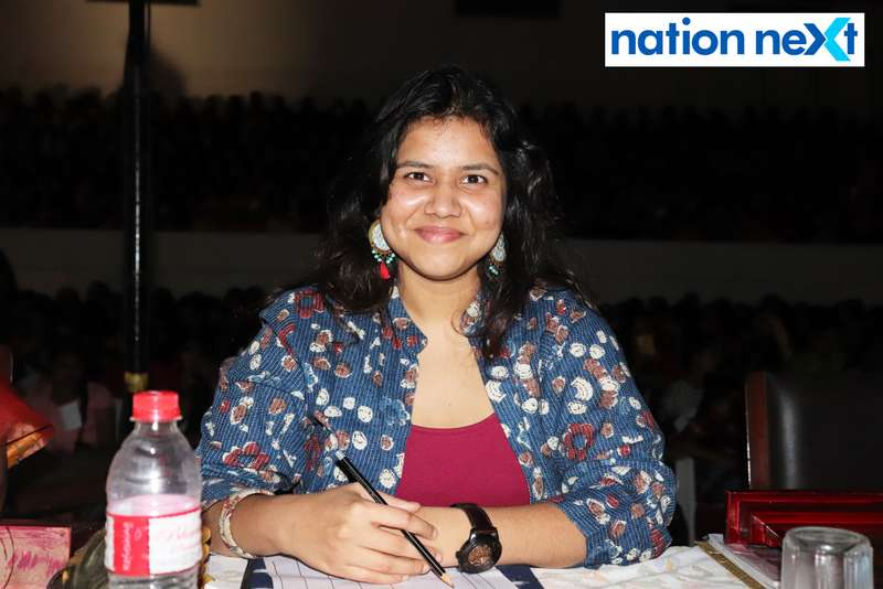 Tanuja Sawangikar at LAD College's cultural fest 'Aura' held in Nagpur