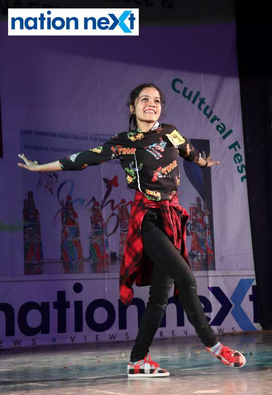 Vandana Kushwaha during her performance at LAD College's cultural fest 'Aura' held in Nagpur