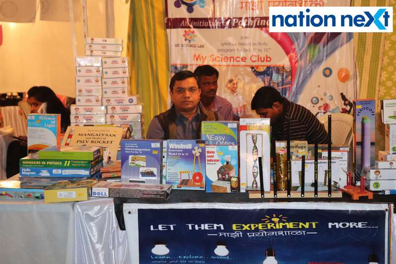 Dhananjay Balpande at the La Carniesta flea market organised by Parindey Youth Foundation in Nagpur