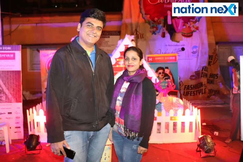 Dhiraj and Lavina Gwalani at the La Carniesta flea market organised by Parindey Youth Foundation in Nagpur