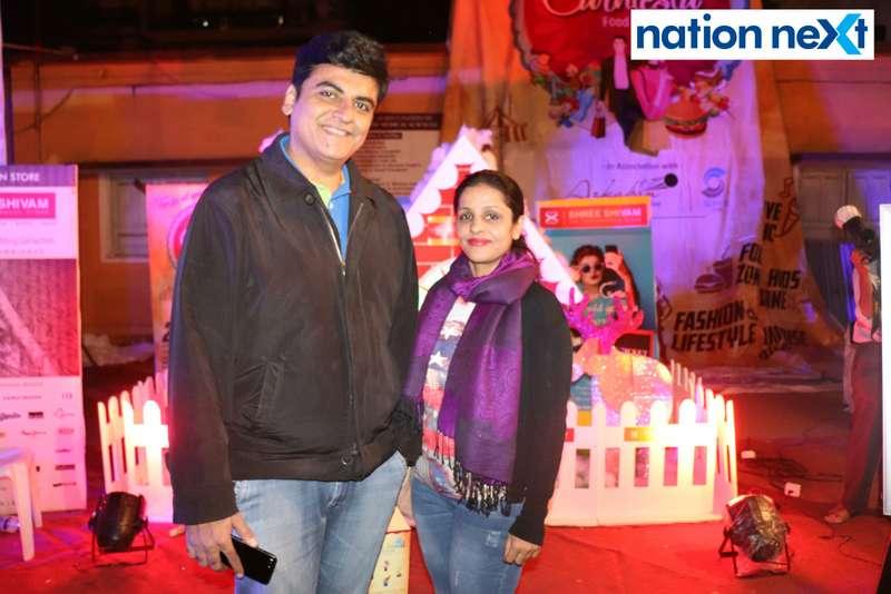 Dhiraj and Lavina Gwalani at the La Carniesta flea market organised by Parindey Youth Foundation in Nagpur