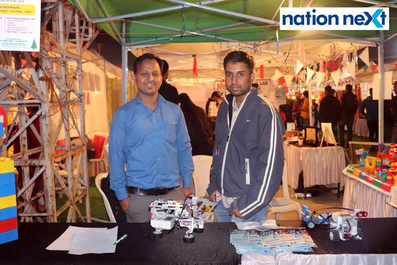 Neeraj and Kunal Sharma at the La Carniesta flea market organised by Parindey Youth Foundation in Nagpur