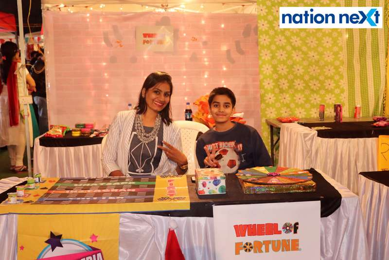 Nidhi and Neev Rathi at the La Carniesta flea market organised by Parindey Youth Foundation in Nagpur