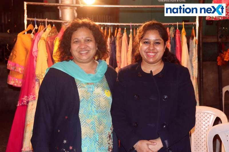 Nikita and Jyoti Bagaria at the La Carniesta flea market organised by Parindey Youth Foundation in Nagpur