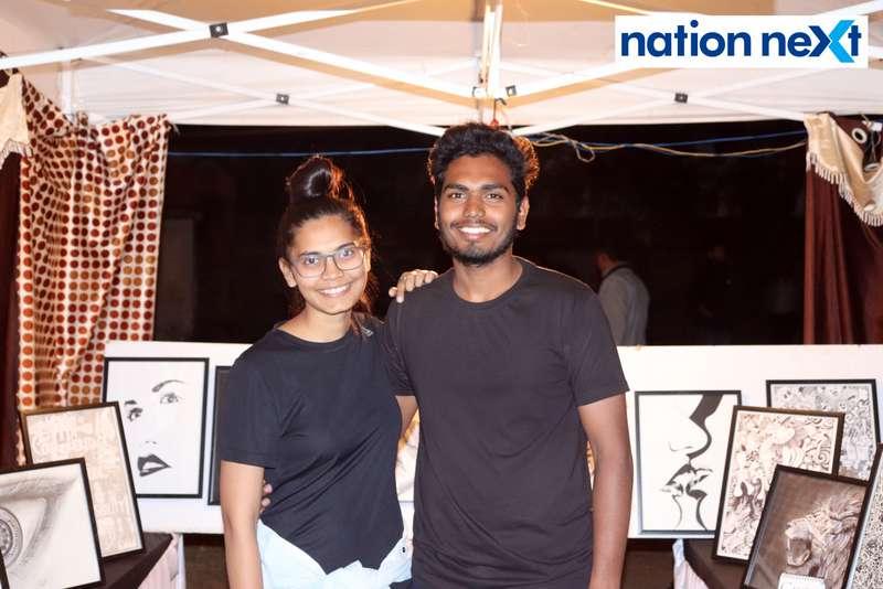 Prajakti Hatwar and Ujjwal Sharma at the La Carniesta flea market organised by Parindey Youth Foundation in Nagpur