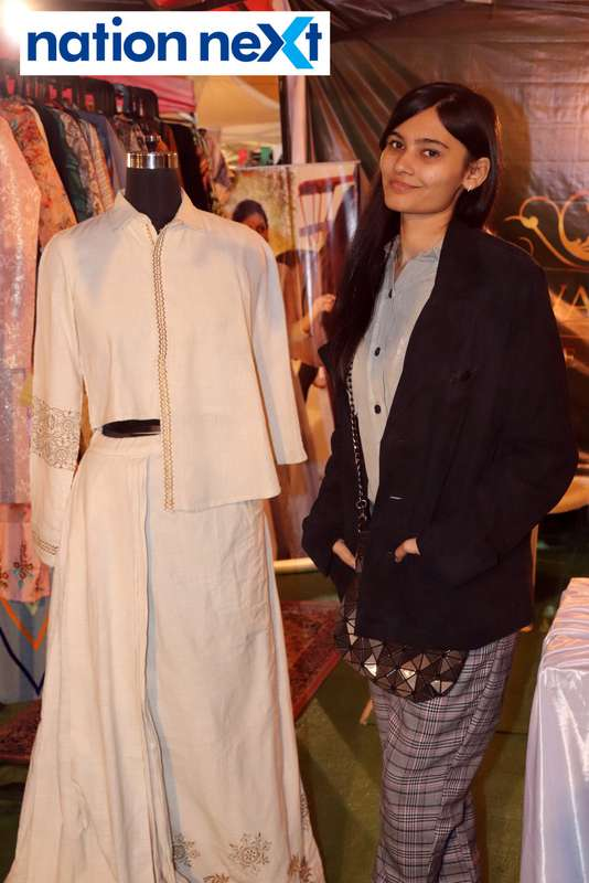 Purva Mandhana at the La Carniesta flea market organised by Parindey Youth Foundation in Nagpur