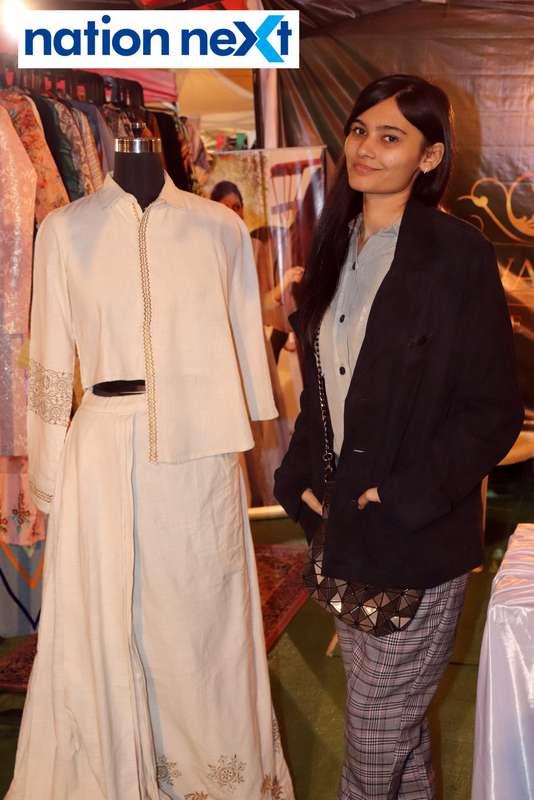 Purva Mandhana at the La Carniesta flea market organised by Parindey Youth Foundation in Nagpur