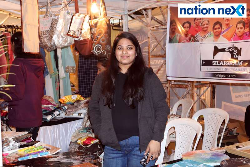 Rashi Kandelwar at the La Carniesta flea market organised by Parindey Youth Foundation in Nagpur