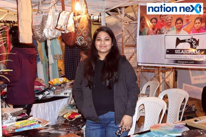Rashi Kandelwar at the La Carniesta flea market organised by Parindey Youth Foundation in Nagpur