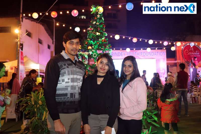 Rishikesh, Ankita and Preety Kedar at the La Carniesta flea market organised by Parindey Youth Foundation in Nagpur