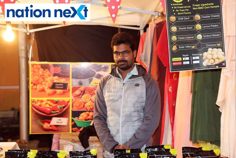 Shrikant Tiwari at the La Carniesta flea market organised by Parindey Youth Foundation in Nagpur