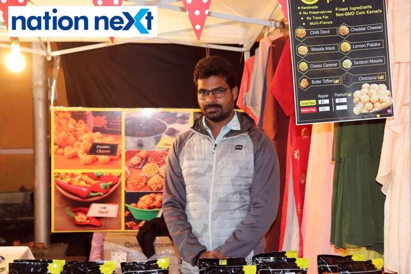Shrikant Tiwari at the La Carniesta flea market organised by Parindey Youth Foundation in Nagpur