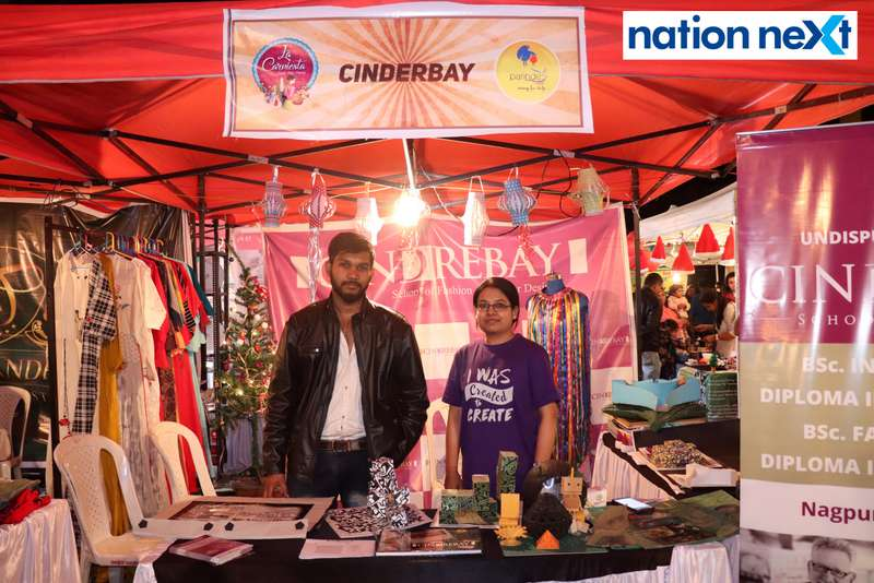 Shubhadeep Adhikari and Bhumika Shrivastav at the La Carniesta flea market organised by Parindey Youth Foundation in Nagpur