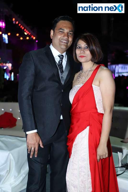 Abhinav and Shraddha Thakur during the 2019 New Year bash held at Gondwana Club in Nagpur