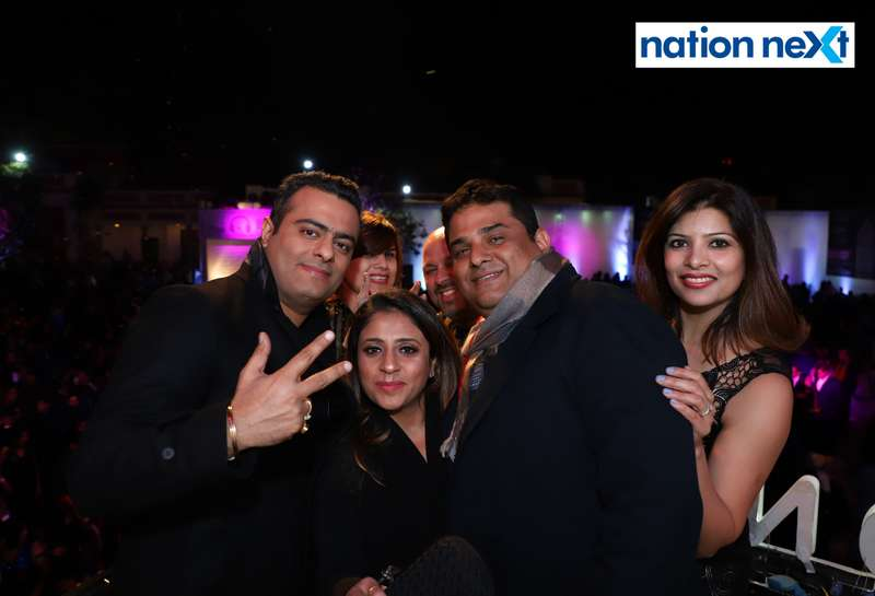 Abhishek and Deepshikha Thakur with their friends during the 2019 New Year bash held at Gondwana Club in Nagpur