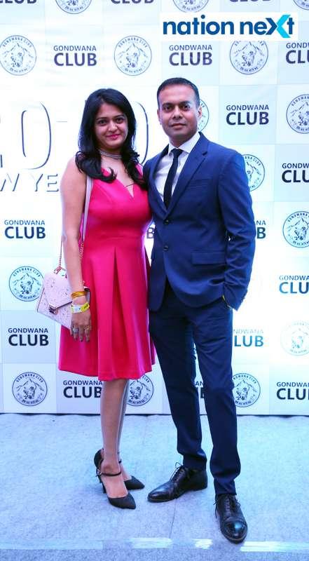 Anandita and Saptarshi Naha during the 2019 New Year bash held at Gondwana Club in Nagpur