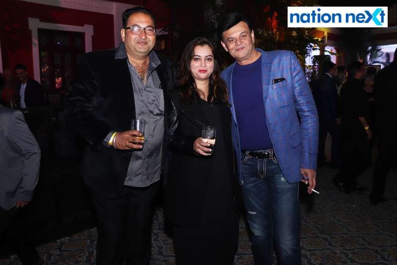 Balwant Jog, Preeti Buty Shandilya and Santosh Jog during the 2019 New Year bash held at Gondwana Club in Nagpur