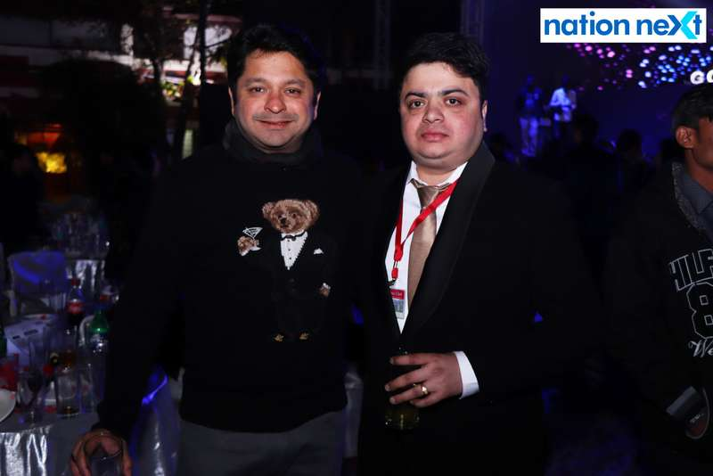 Gautam and Jatin Kale during the 2019 New Year bash held at Gondwana Club in Nagpur