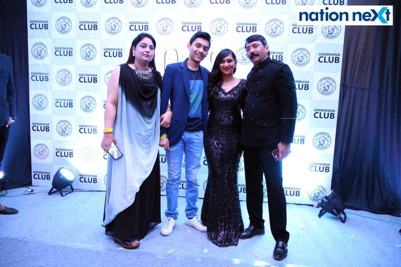 Gayatri, Abhishek, Anisha and Parth Majumdar during the 2019 New Year bash held at Gondwana Club in Nagpur