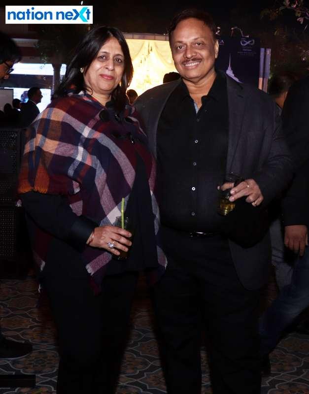 Geeta and Sunil Pedgaonkar during the 2019 New Year bash held at Gondwana Club in Nagpur