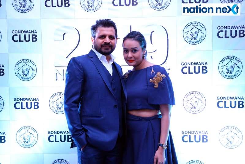 Hardik and Ruchika Khakkhar during the 2019 New Year bash held at Gondwana Club in Nagpur