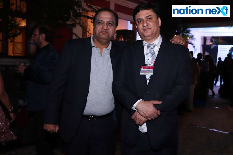 Jatin Tarkunde with his friend during the 2019 New Year bash held at Gondwana Club in Nagpur