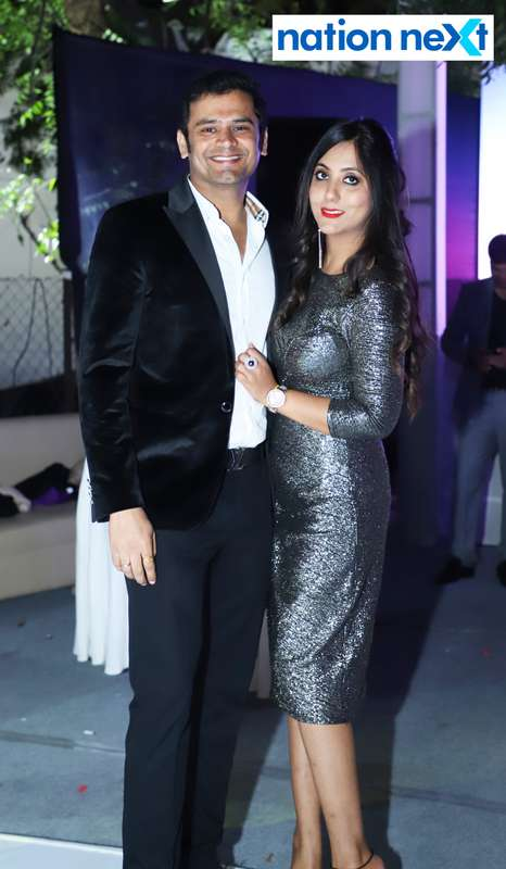 Loveen and Niharika Sawlani during the 2019 New Year bash held at Gondwana Club in Nagpur