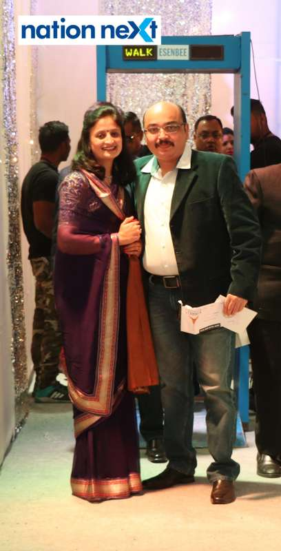 Madhuri and Pratap Singh Bhonsle during the 2019 New Year bash held at Gondwana Club in Nagpur