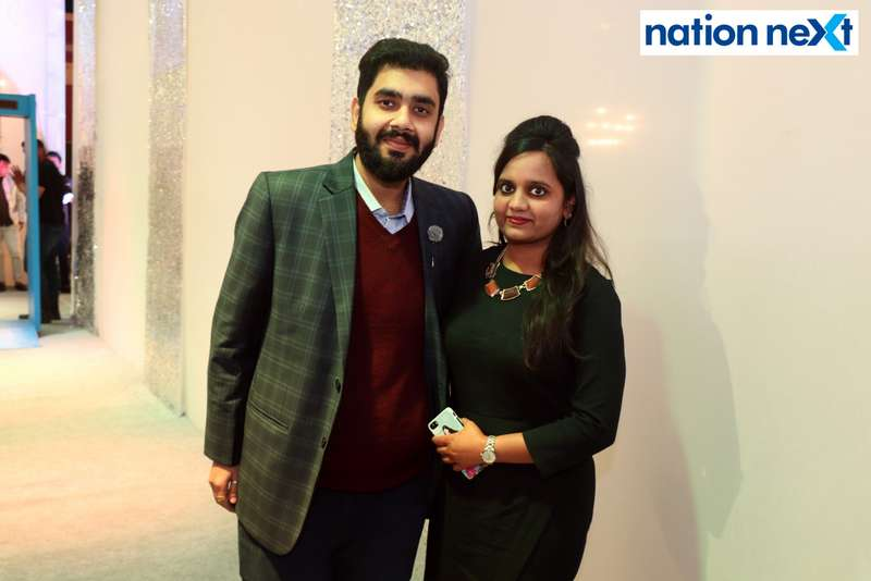 Nishant and Prachi Yaducka during the 2019 New Year bash held at Gondwana Club in Nagpur