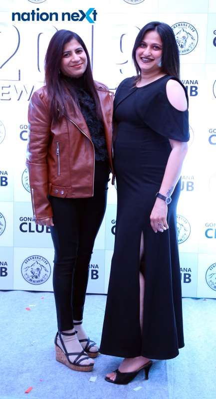 Pradnya Chitaley (R) with her friend during the 2019 New Year bash held at Gondwana Club in Nagpur