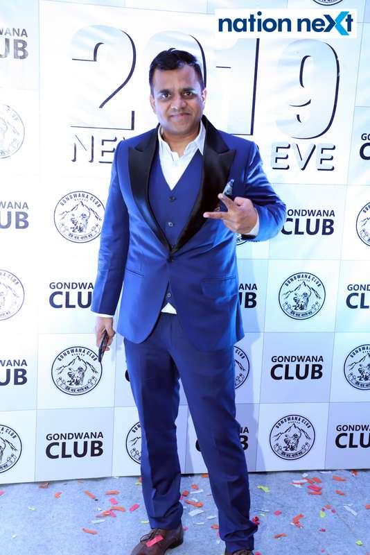 Raakesh Awachat during the 2019 New Year bash held at Gondwana Club in Nagpur