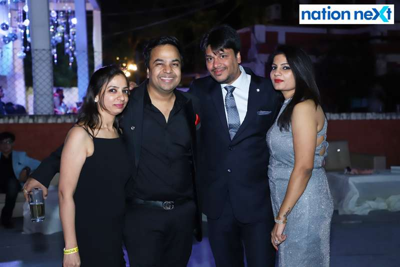 Rakhee, Alok, Ashish and Sneha Khemuka during the 2019 New Year bash held at Gondwana Club in Nagpur