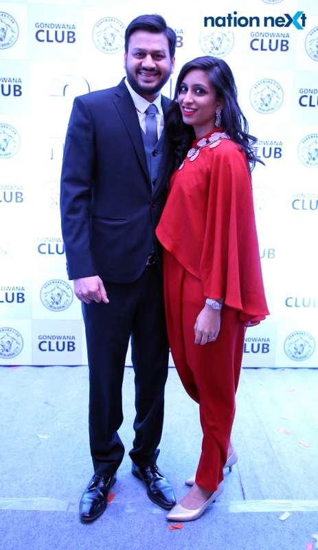 Saurabh and Megha Agrawal during the 2019 New Year bash held at Gondwana Club in Nagpur