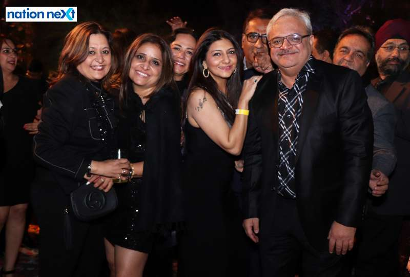 Sharmila and Faiz Vali with their friends during the 2019 New Year bash held at Gondwana Club in Nagpur