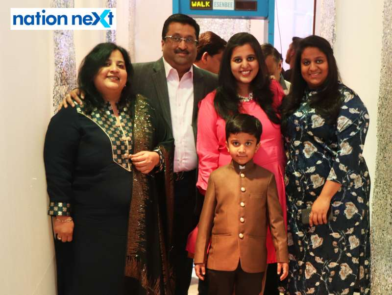 Shilpi and Madhusudan Pacheriwala with their family during the 2019 New Year bash held at Gondwana Club in Nagpur