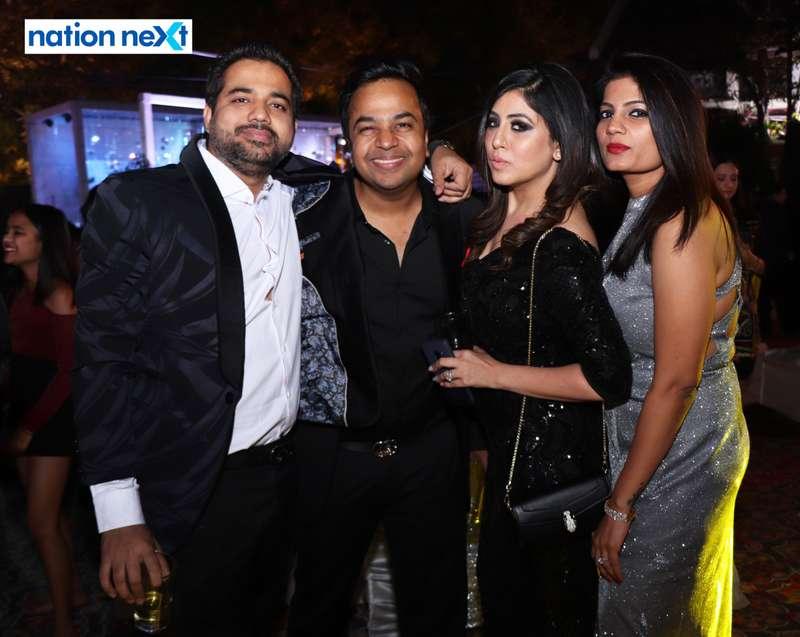 Shravan Kukreja, Alok Khemuka, Ritu Kukreja and Sneha Khemuka during the 2019 New Year bash held at Gondwana Club in Nagpur