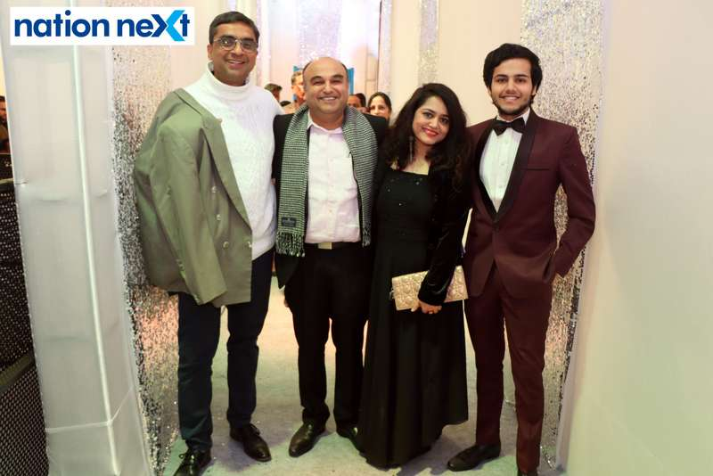 Siddharth and Archana Saraf with their friends during the 2019 New Year bash held at Gondwana Club in Nagpur