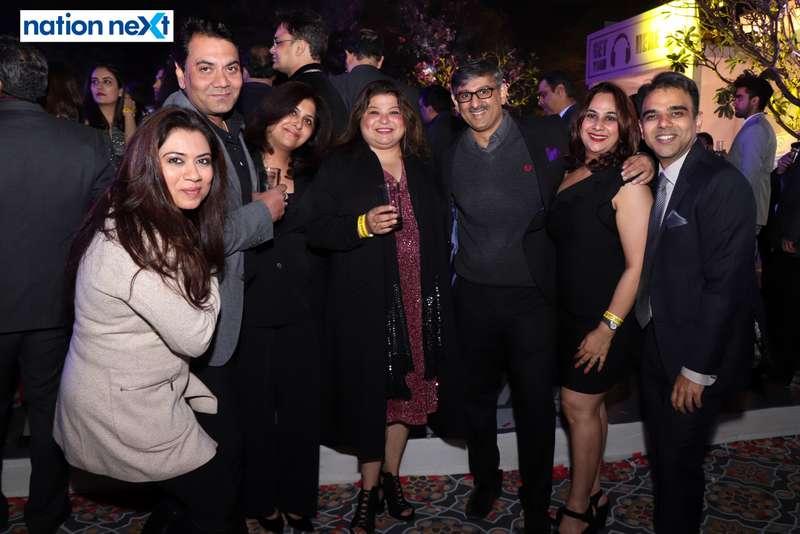 Vidhi Daga, Saket Daga, Pallavi Pashine and Anurag Pashine with their friends during the 2019 New Year bash held at Gondwana Club in Nagpur